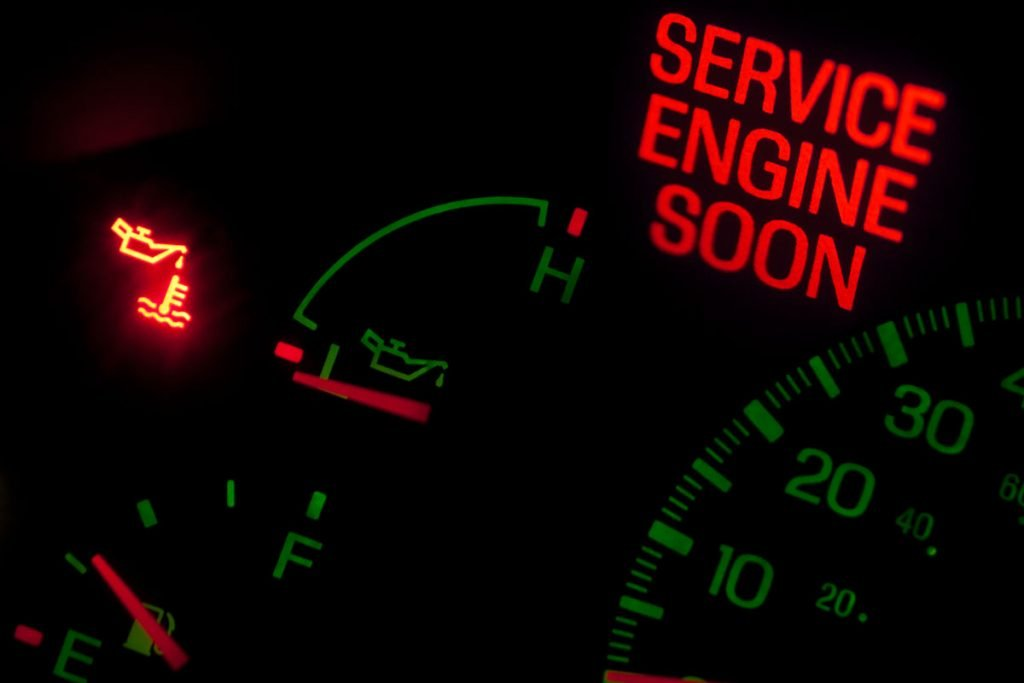 Check Engine Light that needs diagnostics